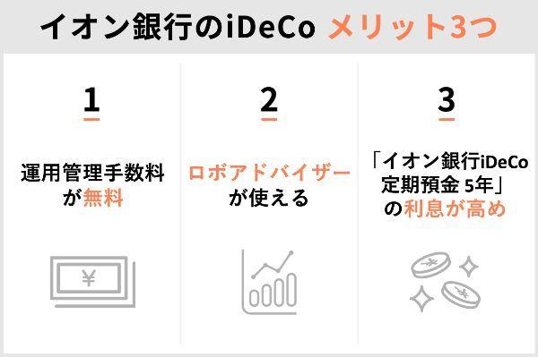 3.イオン銀行のiDeCoを選ぶデメリット&メリットを解説
