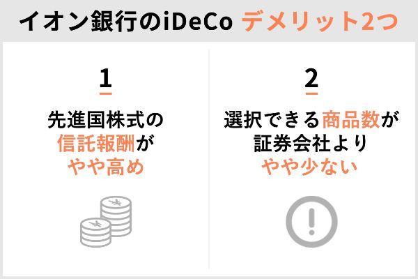 2.イオン銀行のiDeCoを選ぶデメリット&メリットを解説